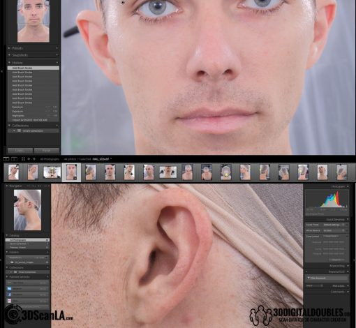 3D Head Scans; M014, Neutral 360 3