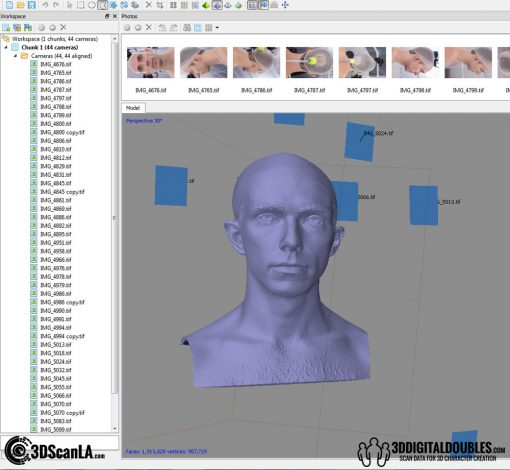 3D Head Scans; M014, Neutral 360 7