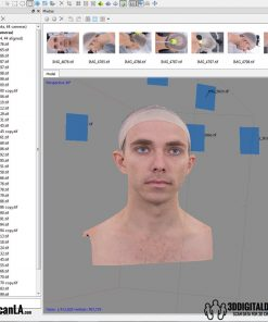 3D Head Scans; M014, Neutral 360 12