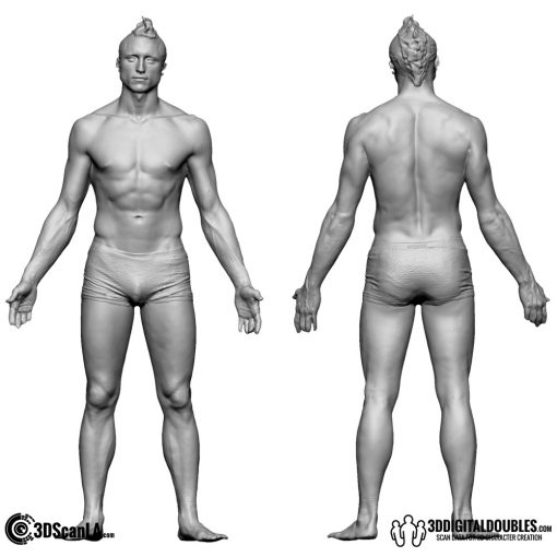 Male Body Scan; BS2, T-Pose 1