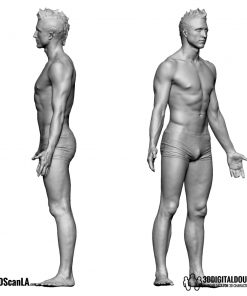 Male Body Scan; BS2, T-Pose 4
