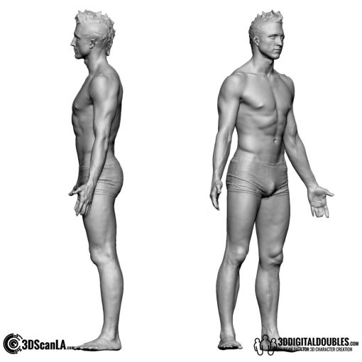 Male Body Scan; BS2, T-Pose 2
