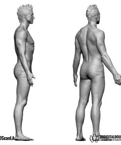Male Body Scan; BS2, T-Pose 5