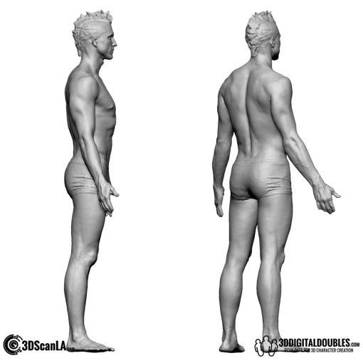 Male Body Scan; BS2, T-Pose 3