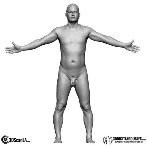 Male Body Scan; BS, T-Pose 1