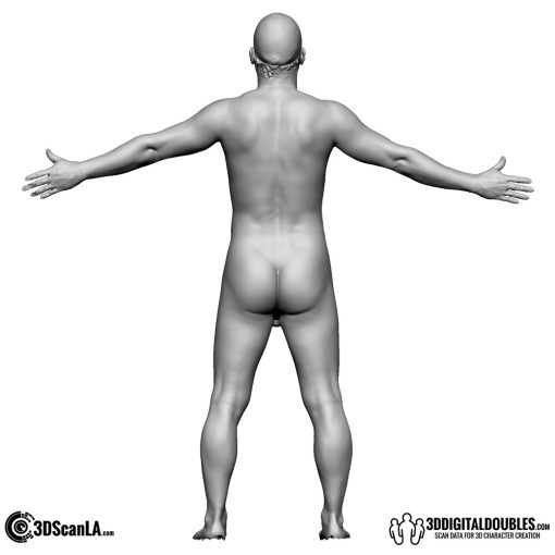 Male Body Scan; BS, T-Pose 2