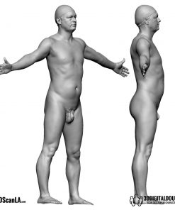 Male Body Scan; BS, T-Pose 5