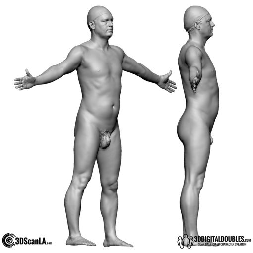Male Body Scan; BS, T-Pose 3