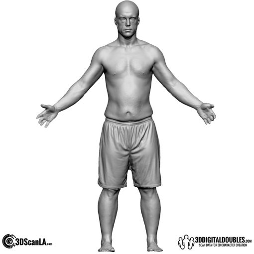 Male Body Scan; CA, T-Pose 1