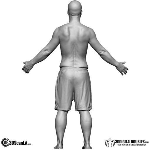 Male Body Scan; CA, T-Pose 2