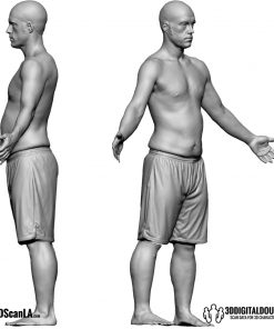Male Body Scan; CA, T-Pose 6