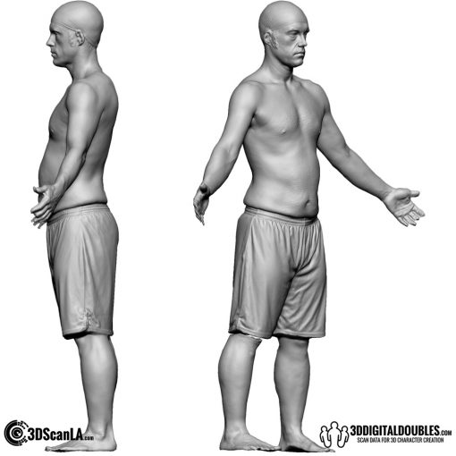 Male Body Scan; CA, T-Pose 3