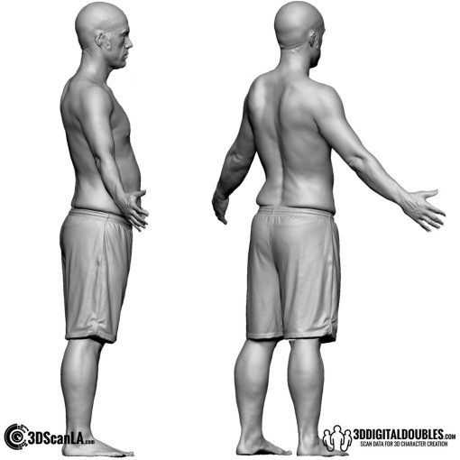 Male Body Scan; CA, T-Pose 4