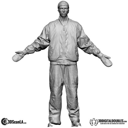 Male Body Scan; DS, T-Pose Snow 1