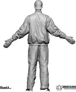 Male Body Scan; DS, T-Pose Snow 5