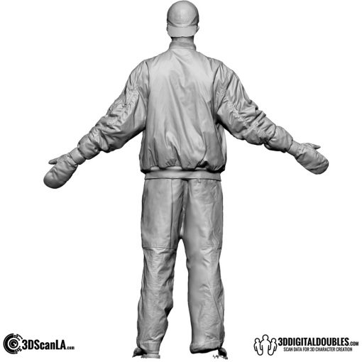 Male Body Scan; DS, T-Pose Snow 2