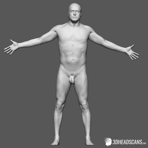 Male Body Scan; KK, T-Pose 2