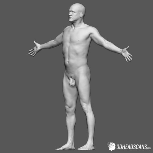 Male Body Scan; KK, T-Pose 3