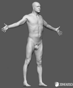Male Body Scan; KK, T-Pose 15
