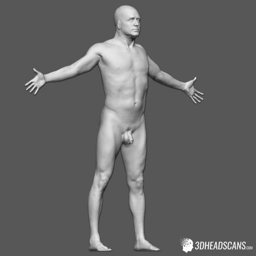 Male Body Scan; KK, T-Pose 7