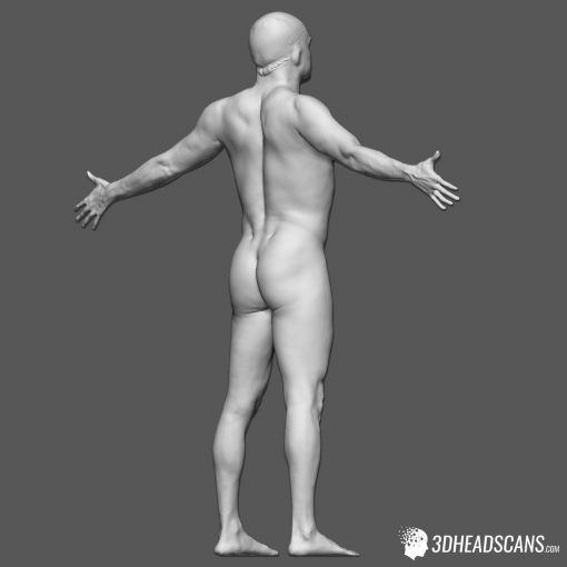 Male Body Scan; KK, T-Pose 9