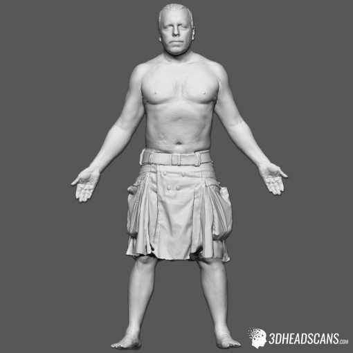 Male Body Scan; SM, T-Pose 1