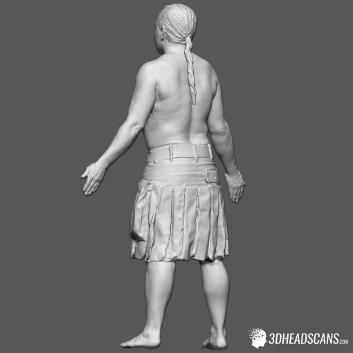 Male Body Scan; SM, T-Pose 5