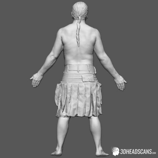 Male Body Scan; SM, T-Pose 6