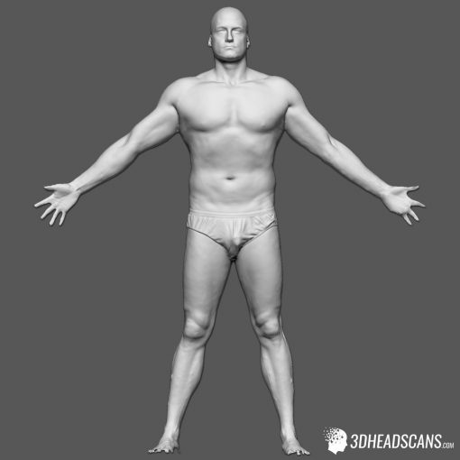 Male Body Scan; SS, T-Pose 1