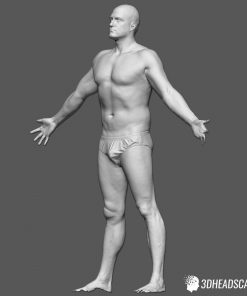Male Body Scan; SS, T-Pose 9