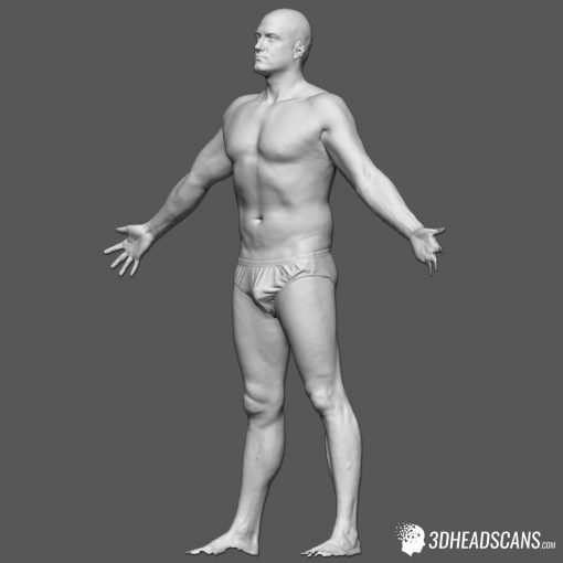 Male Body Scan; SS, T-Pose 2