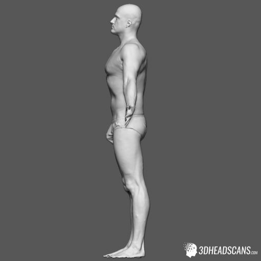 Male Body Scan; SS, T-Pose 3