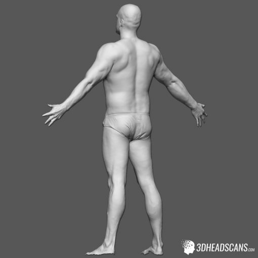 Male Body Scan; SS, T-Pose 4