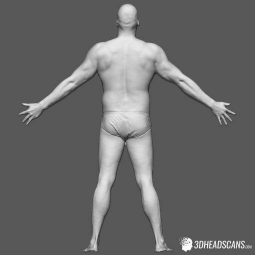 Male Body Scan; SS, T-Pose 5