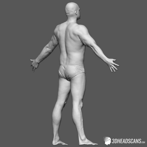 Male Body Scan; SS, T-Pose 6