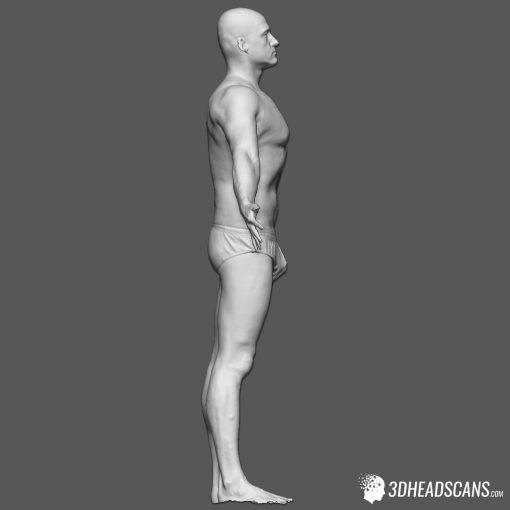 Male Body Scan; SS, T-Pose 7