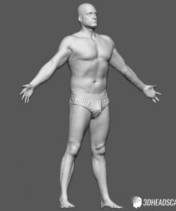 Male Body Scan; SS, T-Pose 15