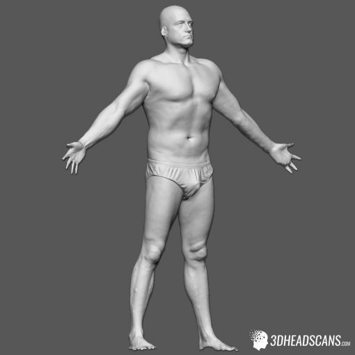 Male Body Scan; SS, T-Pose 8