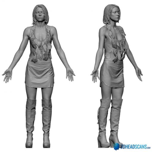 Female 3D Body Scan F049, 010 2
