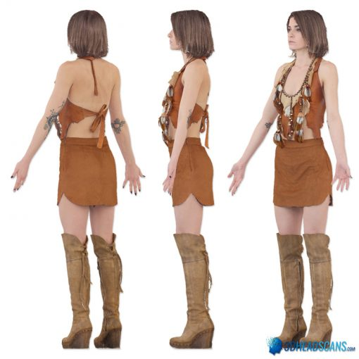 Female 3D Body Scan F049, 010 3