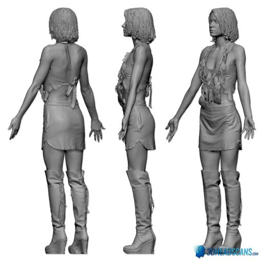 Female 3D Body Scan F049, 010 4