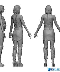 Female 3D Body Scan F049, 010 12