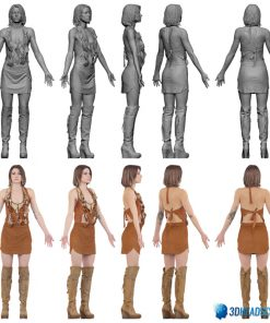 Female 3D Body Scan F049, 010 13