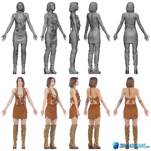 Female 3D Body Scan F049, 010 7