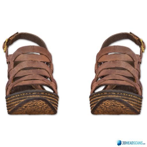 Female Shoes; Brown Wedge 1