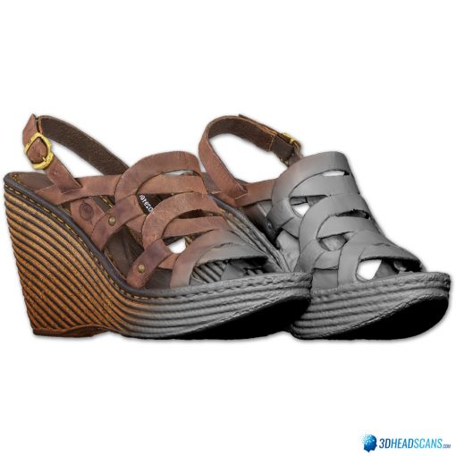 Female Shoes; Brown Wedge 4
