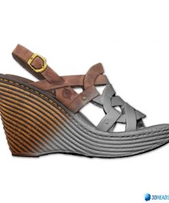 Female Shoes; Brown Wedge 10