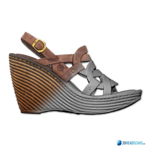 Female Shoes; Brown Wedge 5
