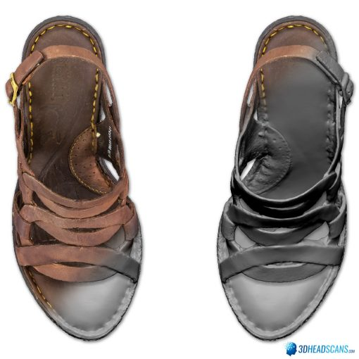 Female Shoes; Brown Wedge 3