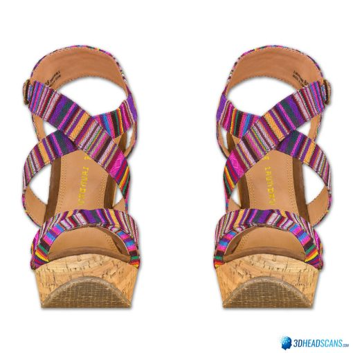 Female Shoes; Colorful Wedge 1
